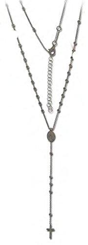 UNOAERRE - Collana Pendente Rosario in Argento con grani e Croce 412239