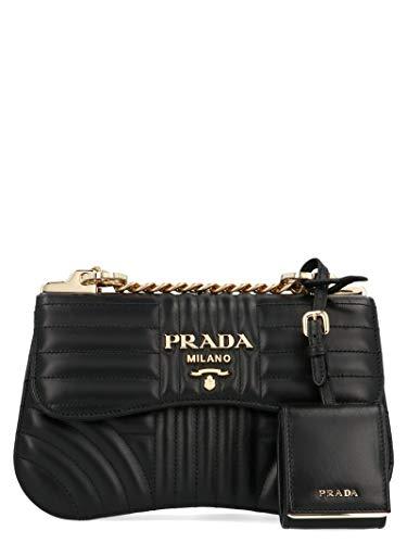 Prada Damen 1Bd201vcox2d91f0632 Schwarz Leder Schultertasche