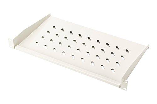 """DIGITUS Professional DN-97609 - Fachboden zum Festeinbau in 19"""" Schränke - Traglast 15 kg - ab 450 mm Schranktiefe - 1HE - Farbe grau"""