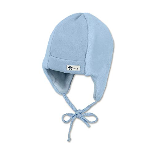 Sterntaler Baby-Mütze für Jungen mit Ohrenklappen und Bindebändern, Alter: 3-4 Monate, Größe: 39, Hellblau (Himmel)