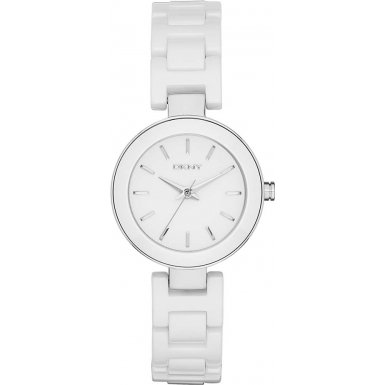 DKNY (DNKY5) Women's Quartz Watch with White Dial Analogue Display and White Stainless Steel Bracelet NY2354