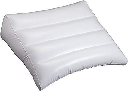 Cuscino a cuneo gonfiabile bianco posteriore supporto da viaggio, cuscino a cuneo, reflusso sollievo, supporto ortopedico aiutano a smettere di russare, mal di schiena, gambe * * corredato di schiena cure e-book * *