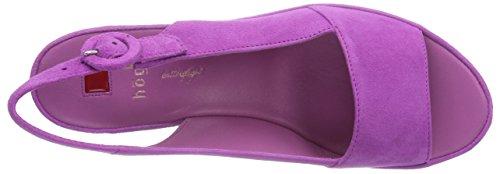 Högl 9-103222-8800 Damen Slingback Sandalen mit Keilabsatz Pink (8800)