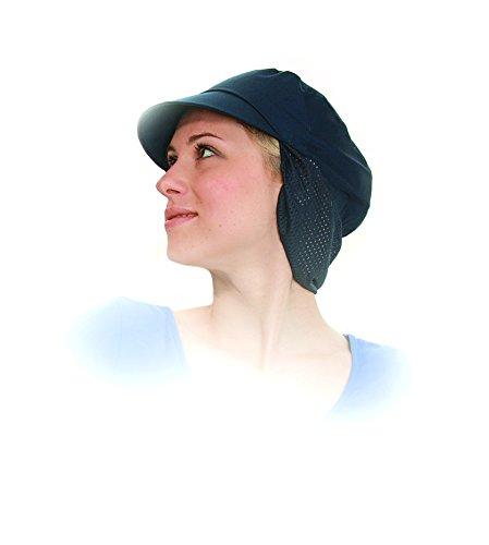 Preisvergleich Produktbild Schildmütze mit Haarschutz, Gummizug und Netzteil Navyblau/Schwarz - Industriewäsche geeignet