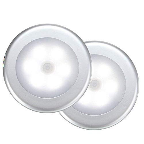 EgoEra Bewegungssensor Licht, Wireless LED PIR Bewegungsmelder Licht Lampen, 6 Batteriebetriebene Nachtlicht Beleuchtung Stick überall, Treppenlicht Bücherregal Kleiderschrank Licht, 1Stück -