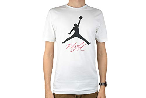 Nike Herren Jumpman Flight HBR Tee T-Shirt, White/Black, M (Nike Jordan Flight Damen)
