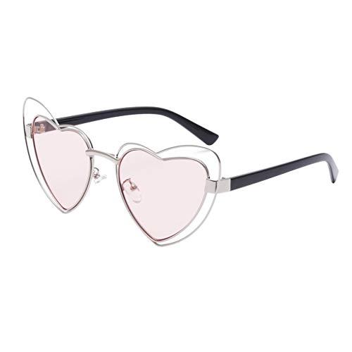 Sonnenbrille Unisex Brillenträger Frauen Männer Herz Geformt Eye Sonnenbrille VintageRetro Brillen UV-SchutzMode Klassische Schutz vor Radioaktivität zum Skifahren Autofahren Laufen Wandern Sport