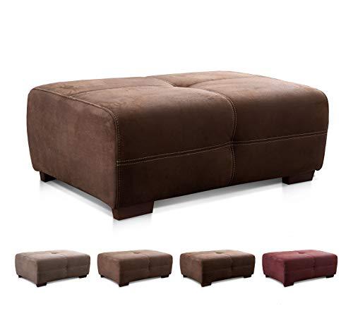 Cavadore Hocker Mavericco / Großer Polsterhocker in Lederoptik / Industrial Style / Passend zu Big Sofa und Ecksofa Mavericco / 108 x 71 x 41 cm (BxHXT) / Mikrofaser Dunkelbraun