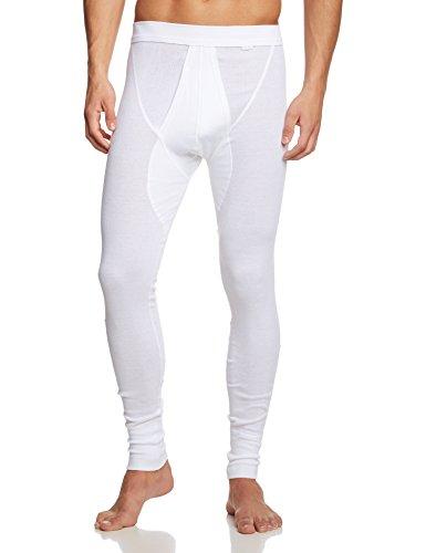 Calida Herren Lange Unterhose, Einfarbig, Gr. Medium (Herstellergröße: M 50), weiß (weiss 001) (Medium Herren Lange Unterhose)
