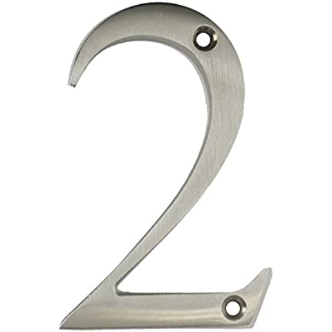 3inch sottile costiere Porta numero, colore: argento satinato porta numero 2–Non Pit o ruggine anche a la costa