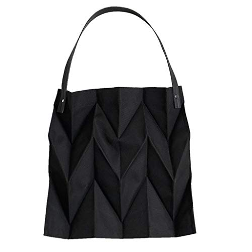 Damen Umhängetasche Shoulder Bag Handtasche Schultertasche Satchel handbag,Candy Farbe Falten kausalen Einkaufstasche Canvas große Kapazität Taschen - Candy Satchel