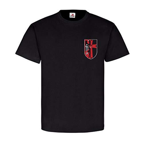 Sudeten Landsmann Sudetenland Heimat Wappen Adler Vertrieben Logo Abzeichen T Shirt #20134, Farbe:Schwarz, Größe:Herren 4XL -