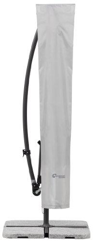 Schneider fodera protettiva ombrellone a braccio laterale, grigio argento, fino a 300 cm Ø