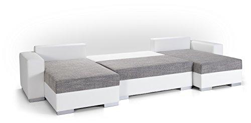 TIGER Wohnlandschaft mit Bettfunktion in U-Form Sofa mit Schlaffunktion