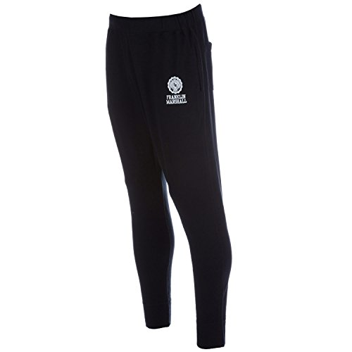 Mens-Franklin-And-Marshall-Cuffed-Track-Pants-In-Black