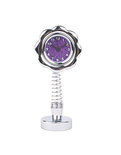 Khiam 11 Horloge fleurie avec dock - Violet