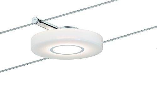 Paulmann 501.13 Seilsystem DiscLED1 Single Erweiterung Tageslichtweiß 1x4W Satin Dimmbar Tunable white LED 50113 Seilleuchte Hängeleuchte (Single Tunable)