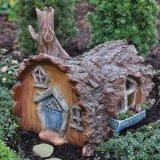 Miniatur-Haus in Baumstamm-Optik, Feen-Haus