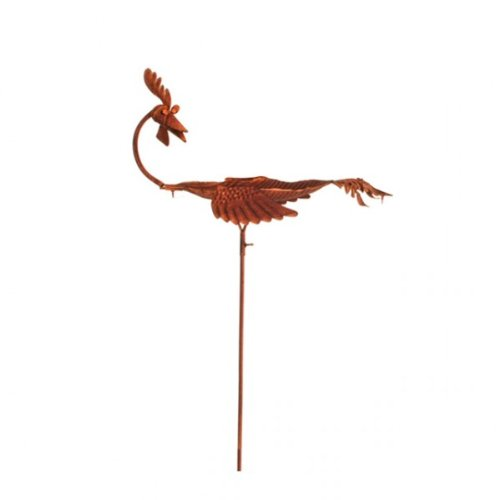 Vogeltränke 'Hahn' aus Metall 135cm in Rostoptik Garten Dekoration