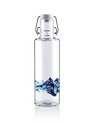 Soulbottle Flasche, Glas, Alpenblick, 0,6 Liter