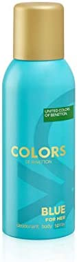 United Colors of Benetton Colours Blue for Her Deodorant, 150ml