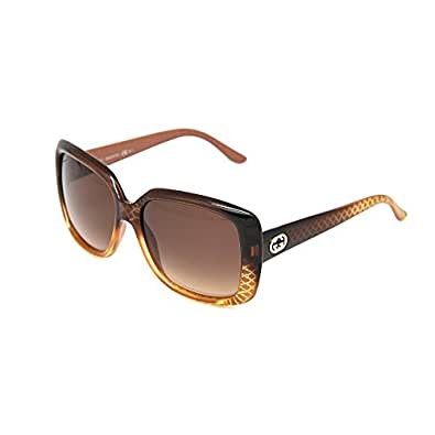 Gucci 3574 W8N Brown Gold Gradient 3574 Square Sunglasses Lens Category 3