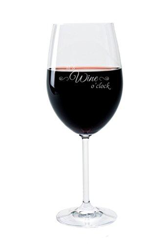 Leonardo Weinglas mit Gravur Motiv Wine o'clock Wein-Glas graviert