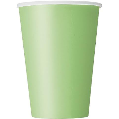 Partido Ênico 12 oz Copas de papel (Pack de 10, verde lima)