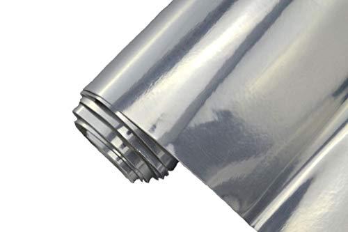 Preisvergleich Produktbild 8,70€/m² Auto Folie - Chrom silber - selbstklebend BLASENFREI flexibel Car Wrapping Klebefolie folieren