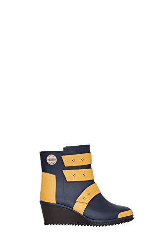 Nokian Footwear by Julia Lundsten - Bottes en caoutchouc -Strap Wedge- (Originals) [SW130] bleu foncé, orange