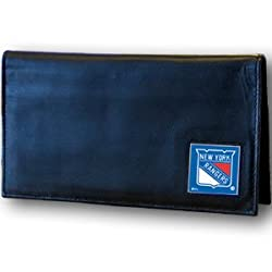 NHL New York Rangers Deluxe Leather Checkbook Wallet
