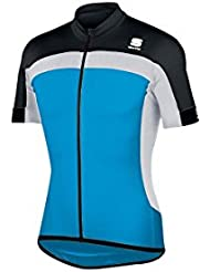 SPORTFUL PISTA SHIRT LONGZIP ELECTRIC BLUE BLACK WHITE EXTRA
