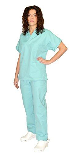 Medico No Stiro OSS Promo Divisa Bianca Unisex Sanitaria ospedaliera Casacca e Pantalone Infermiere Anche con possibilita di Ricamo Nome o mansione