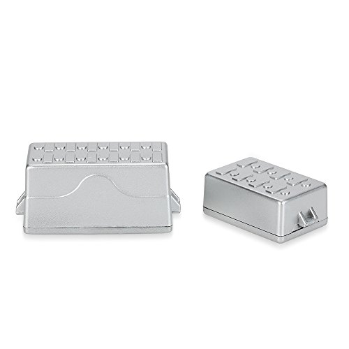 MagiDeal 2pcs 1:10 Dekorative Werkzeug Kasten Kisten Box Tool Kit Silber für Axial SCX10 RC4WD D90 Rock Crawler RC Cars