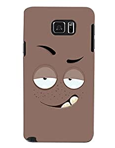 ColourCrust Samsung Galaxy Note 5 Mobile Phone Back Cover With Smiley Drunk or Tipsy Expression - Durable Matte Finish Hard Plastic Slim Case
