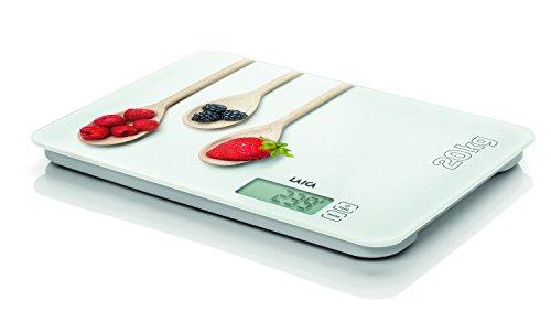 Laica KS5020 Bilancia da Cucina Elettronica, Bianco/Rosso