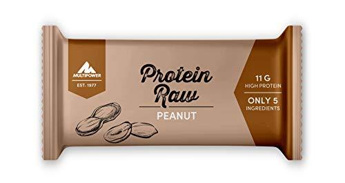 Multipower Protein Raw Bar Eiweißriegel, 20 x 45 g Protein Riegel Box, leckerer Energieriegel aus natürlichen Zutaten, Peanut -
