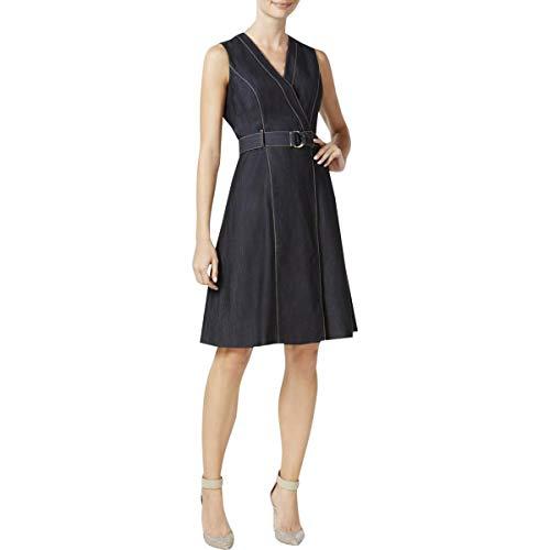 Calvin Klein Womens Casual Sleeveless Wrap Dress Calvin Klein-wrap