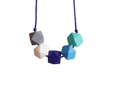 Teething Necklace Elegant Silicone Breastfeeding Baby Nursing Hexagon Beads BPA Free, Hand-Made by MilkMama 31Ob1N1 8WL