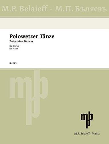 Partitions classique BELAIEFF BORODINE A. - DANSES POLOVTSIENNES - PIANO Piano par BELAIEFF