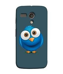 Printvisa Blue Bird Print Designer Back Cover for Motorola Moto G X1032, Moto G Forte, Moto G