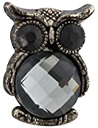 Knighthood Cute Owl Bird With Big Black Eyes Lapel Pin / Brooch For Men