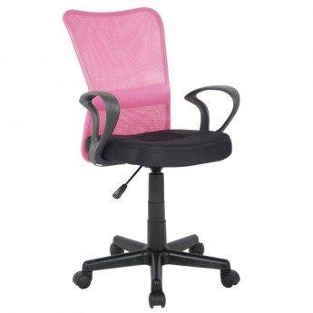 chaise-de-bureau-mio-rose-noire