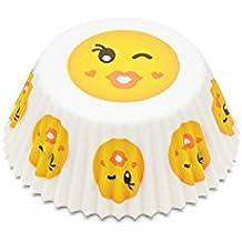 Moldes para magdalenas y cupcakes de Fox Run, diseño de emoticono del beso, tamaño