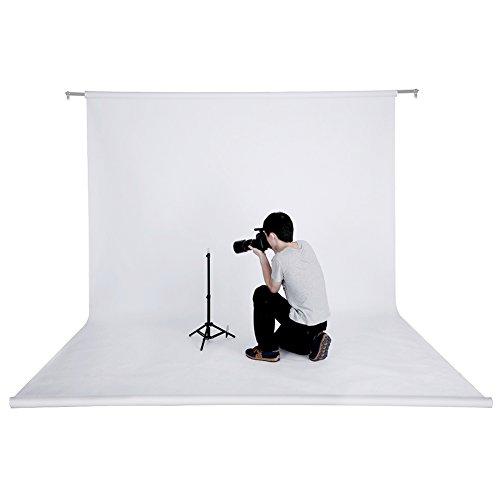 Neewer® 53 pouces x 12 Yard / 1,36 M x 11 M Toile de Fond Backdrop Pliable sans Soudure Portrait Studio Photo pour Photographie, Vidéo et Télévision (Blanc)
