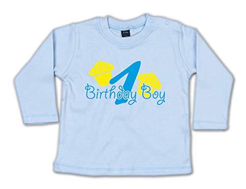 G-graphics Baby Sweatshirt 1 (Jahr) Birthday Boy 268.0562 (12-18 Monate, blau)