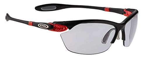 ALPINA Sonnenbrille Performance TWIST THREE 2.0 VL Outdoorsport-brille, Black Matt-Red, One Size