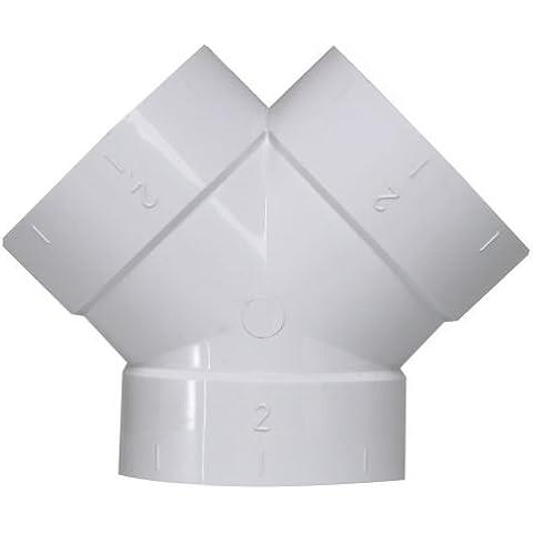Y–Splitter a per aspirapolvere centralizzato Sistema tubi sottovuoto, da 2pollici