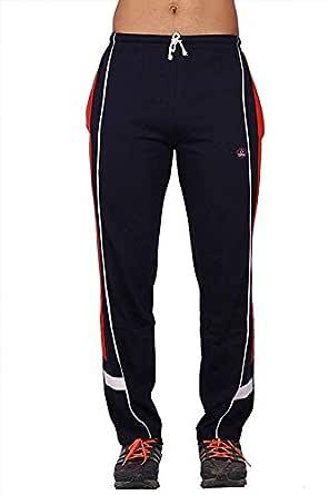 Vimal Men's Cotton Blend Track Pants Blue