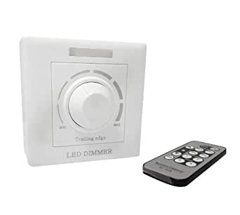 MiNiWatts® 200V-240V 1 Gang One Way Interrupteur Variateur Rotatif Avec Télécommande IR